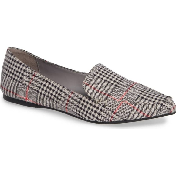 46451d60372 Steve Madden Feather Loafer Flats Plaid